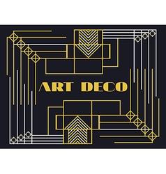 Art deco frame Art deco geometric vintage frame vector image