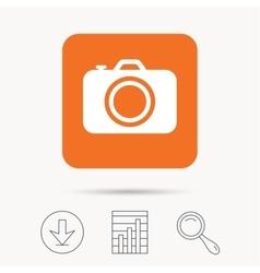 Camera icon professional photocamera sign vector