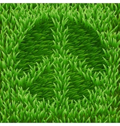Pacific symbol on green grass vector