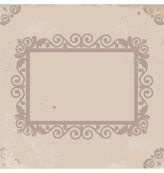 Old worn texture with pattern frame vector