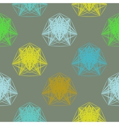 Geometric pattern in spring colors vector