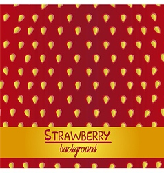 Detail of the texture of the strawberry vector