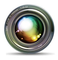 photo lens vector image