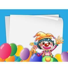 Clown banner vector image