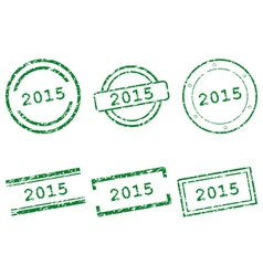 2015 stamps vector image