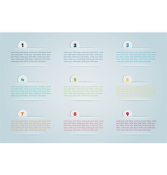Infographic 3d numbered step bubbles 2 vector