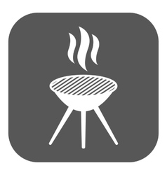 The grill icon barbecue and picnic barbeque vector