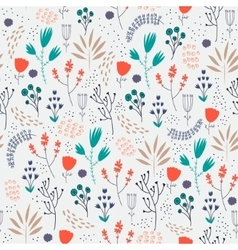 Seamless floral pattern romantic cute vector