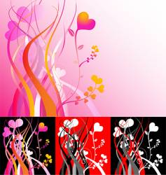 Heart vines vector