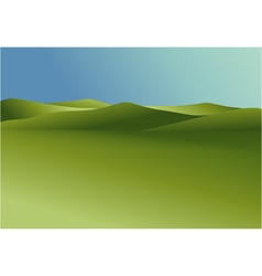 Rural landscape with green hills vector