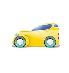 Cartoon orange car isolated on white vector