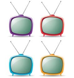 retro tv set vector image