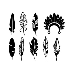 A set of cute hipster arrows hand drawn doodles vector