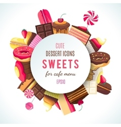 Background for sweets company logo vector