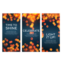 Banners set for celebration greetings vector