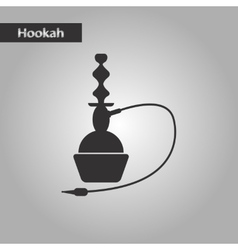 black and white style icon Eastern hookah vector image