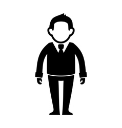Businessman Black Silhouette Web Icon vector image