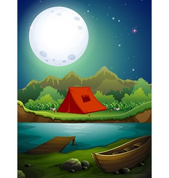 Camping ground vector image