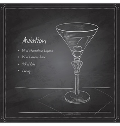 coctail aviation on black board vector image