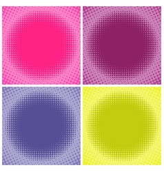 Comic multicolored halftone background vector