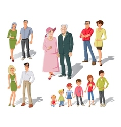 Family Generations Cartoon Set vector image vector image