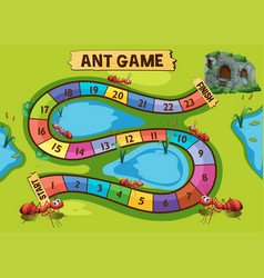Game template with ant colony in background vector