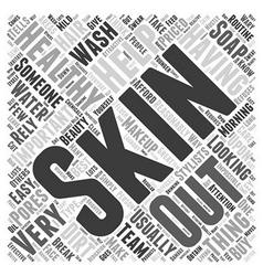 Healthy skin word cloud concept vector