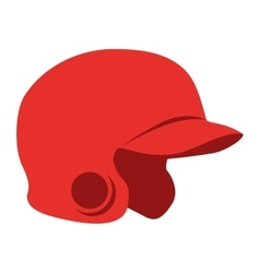helmet red baseball isolated vector image
