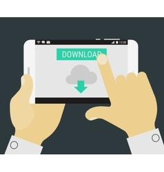 Mobile downloading app vector image
