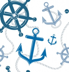 nautical pattern vector image vector image