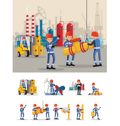 Oil industry characters concept vector