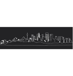 outline of a great night city vector image vector image