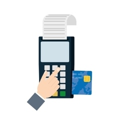 Payment credit card dataphone shop vector