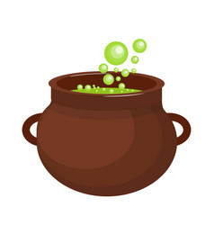 Pot with a potion icon flat style isolated on vector