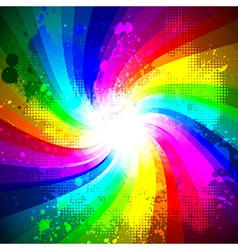 Rainbow splash vector image