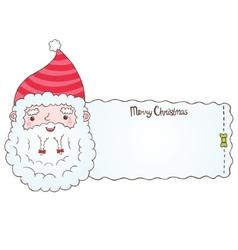 Santa Claus and Christmas banner vector image vector image