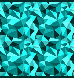 Seamless turquoise abstract geometric rumpled vector