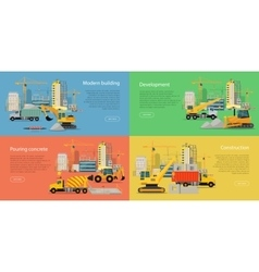 Set of Building and Construction Web Banners vector image vector image
