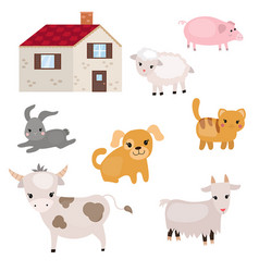 Set of farm animals set of farm animals vector