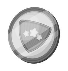 Shield single icon in monochrome styleshield vector