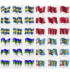 Sweden morocco komi saint pierre and miquelon set vector