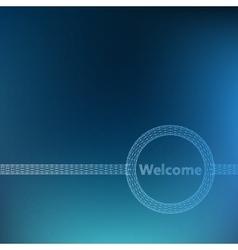 The inscription - welcome molecular lattice vector
