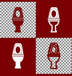 Toilet sign bordo and white vector