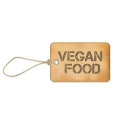 Vegan food old paper grunge label vector