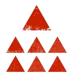 Grunge triangle set vector