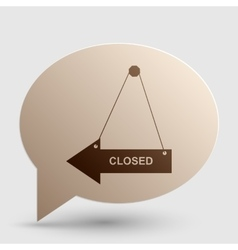 Closed sign  brown gradient icon on vector