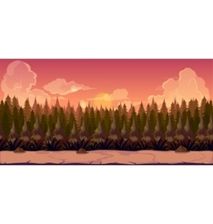 Mystery forest 2d background vector