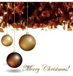Abstract christmas background with golden and vector