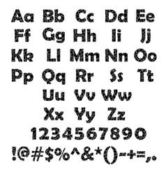 cracked alphabet set vector image