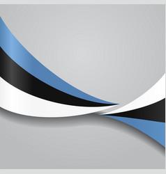 Estonian wavy flag vector